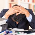 Office worker under stress